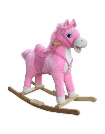 Supamasis medinis  arkliukas Rožinis