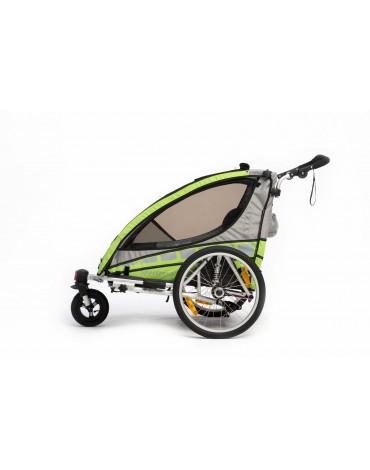 Qeridoo Sportrex2 dvivietis vežimelis prie dviračio