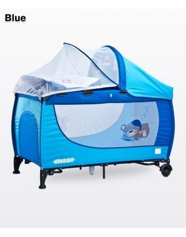 Mėlynas maniežas - kelioninė lovytė Caretero Grande