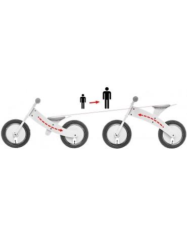 Bike Star baltas balansinis dviratukas augančiu rėmu