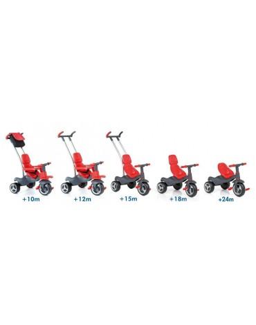 Urban Trike Soft Control 5in1 raudonas triratukas