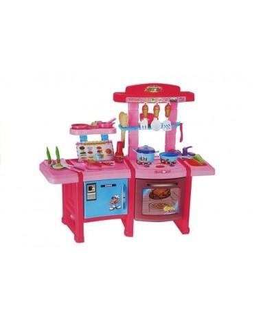 Vaikiška virtuvėlė su šaldytuvu, orkaite ir aksesuarais