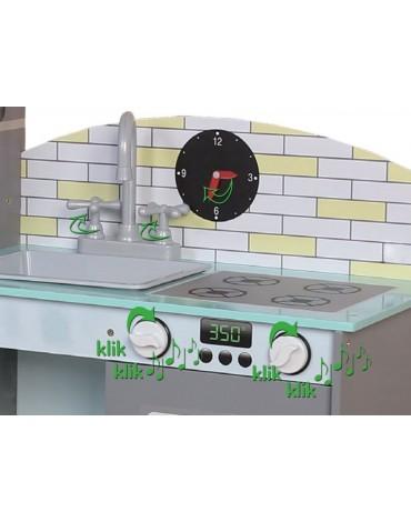 EcoToys vaikiška virtuvėlė su šaldytuvu