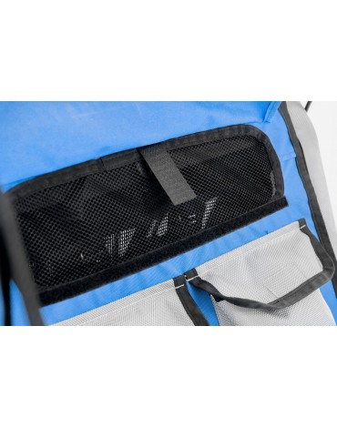 dviracio priekabos ventiliacijos sistema