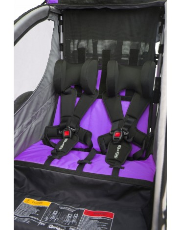 Qeridoo Sportrex2 dvivietė aliuminė priekaba violetinė