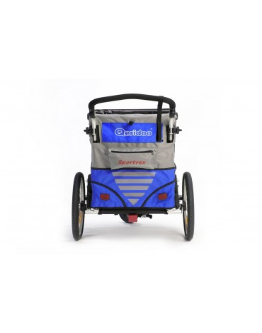 Qeridoo Sportrex2 dvivietė aliuminė priekaba mėlyna