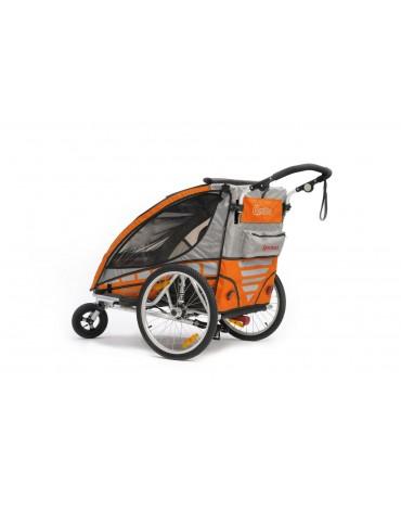 Qeridoo Sportrex2 dvivietė aliuminė priekaba orange