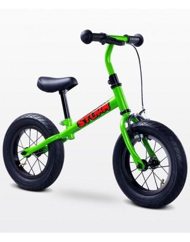 STORM metalinis balansinis dviratukas žalias