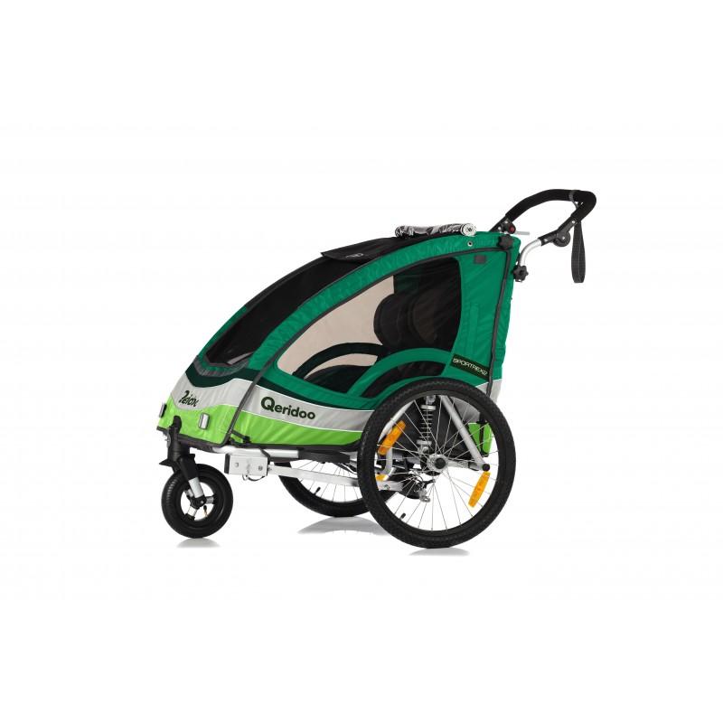 Qeridoo Sportrex 2  2017 dvivietė aliuminė priekaba / vežimėlis vaikams