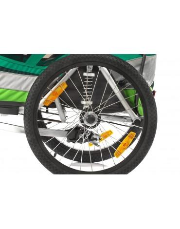 Qeridoo Sportrex 2  2017 dvivietis vežimėlis prie dviračio