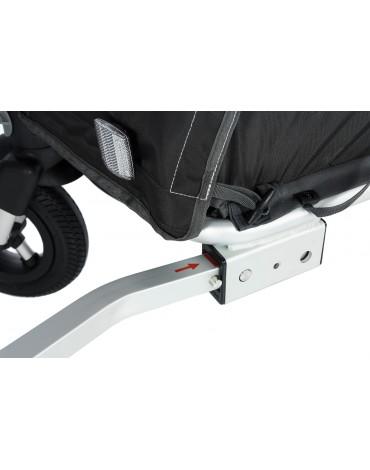 dviračio priekabėlė ir vežimėlis viename