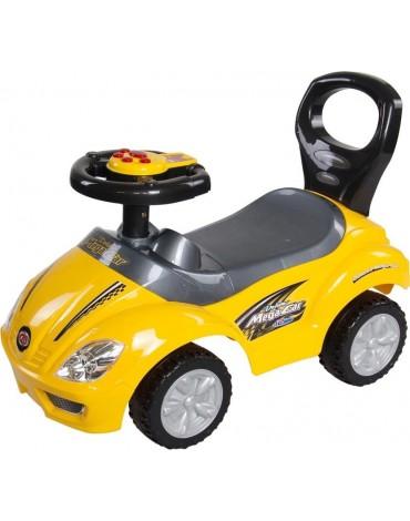 geltona paspiriamoji masina vaikui