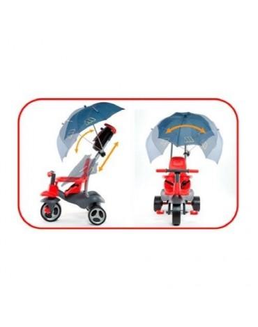Urban Trike Soft Control 5in1 raudonas triratukas su rankena