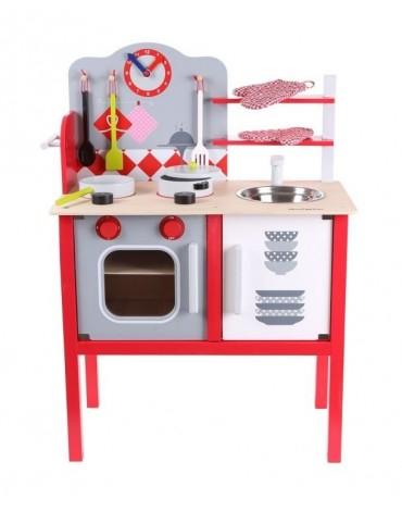 EcoToys medinė vaikiška virtuve
