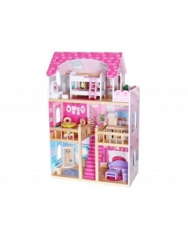 EcoToys medinis lėlių namas