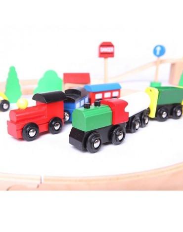 Medine traukiniu trasa pigiai