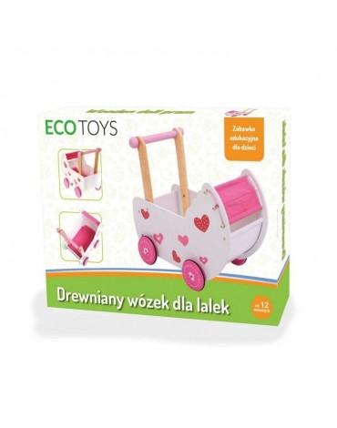 Ekologiškas EcoToys medinis stumdukas mergaitei