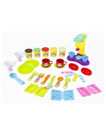 Vaikiška virtuvė su ratukais ir su daug priedų