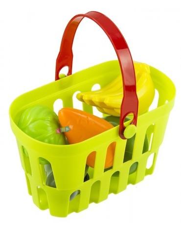 Virtuvėlė su pirkinių krepšeliu ir priedais - būk namų šeimininkė