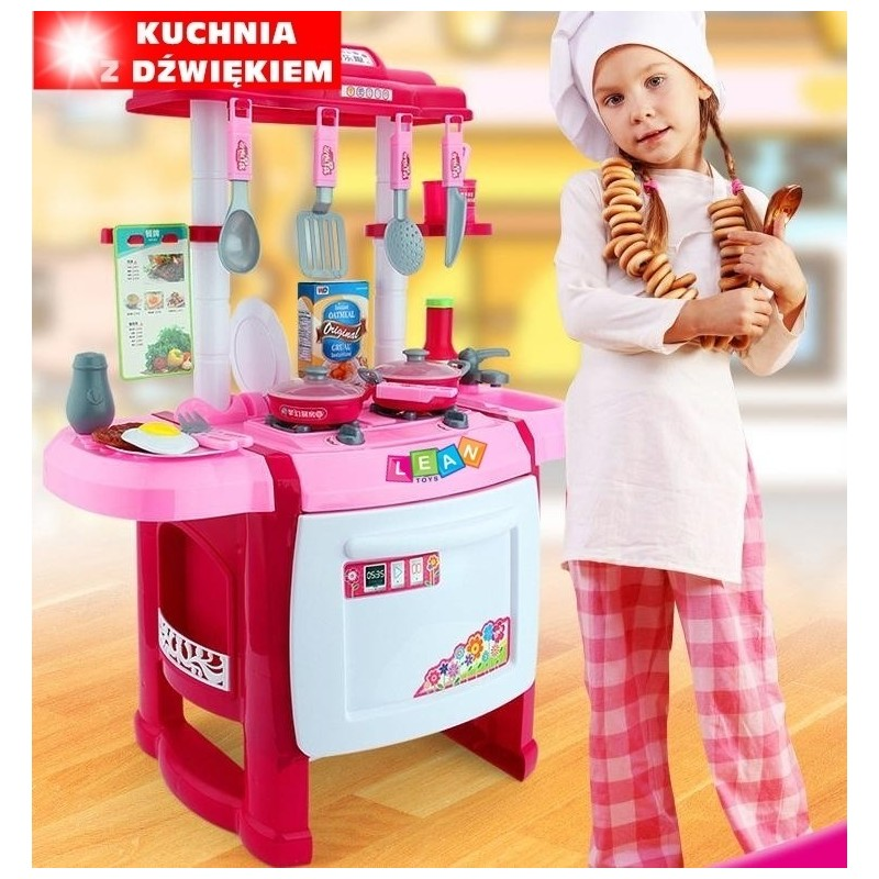 Vaikiška virtuvėlė su aksesuarais ir švieselėmis - garsais