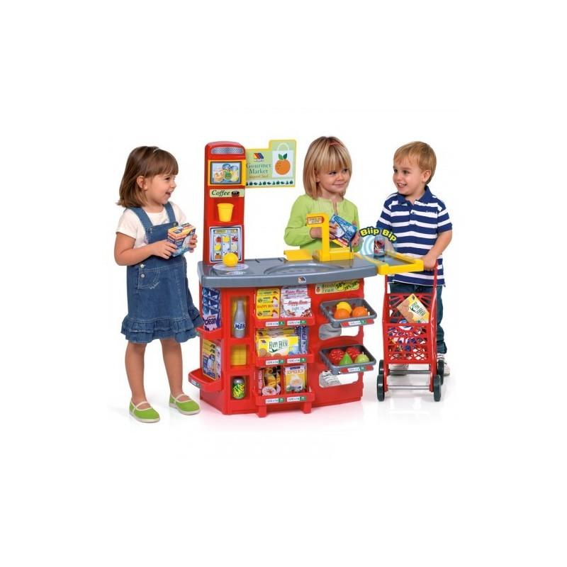 Molto vaikiška parduotuvėlė su reikalingais priedais