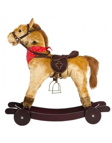 Interaktyvus medinis arkliukas su pakeliamais ratukais