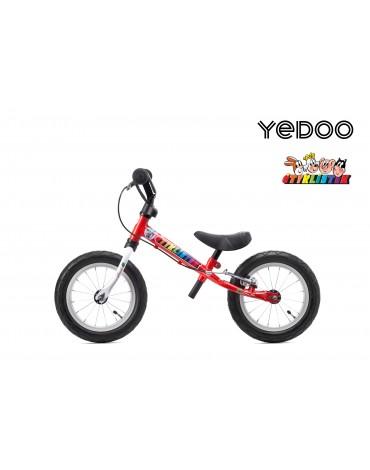 Yedoo 2+ Čtyrlistek balansinis dviratukas raudonas