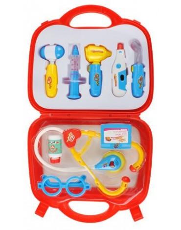 žaislinis daktaro rinkinys su termometru