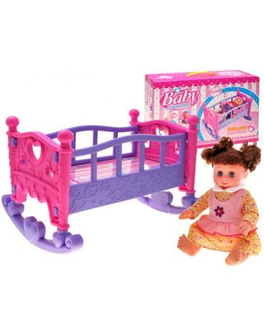 Lėlės lova ir Lėlė 34cm.