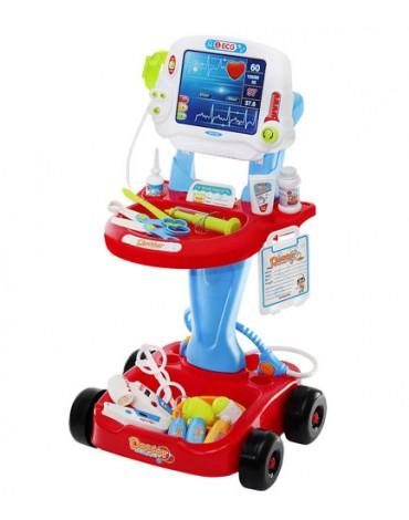 Gydytojo vežimėlis + priedai