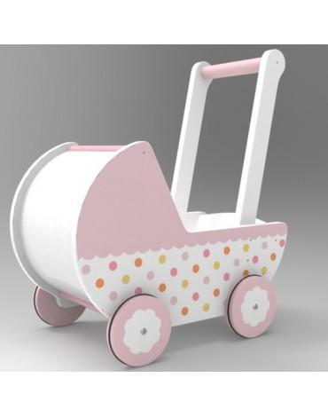WoodenToys lėlių vežimėlis