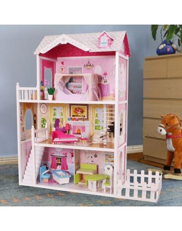 lėlių namelis su sodu