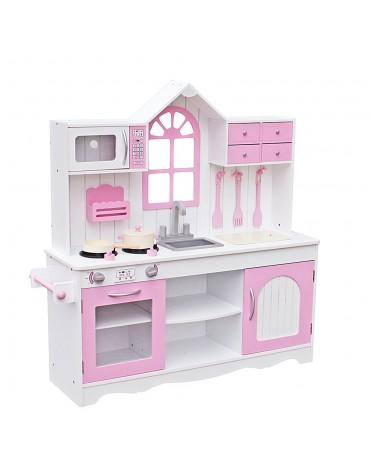 Retro Pink virtuvėlė su indais