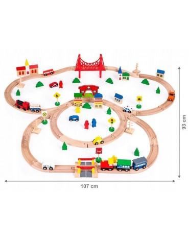 90 Elementų traukinių trasa