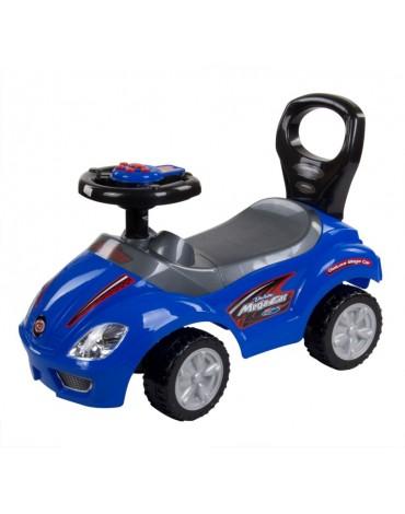 Mega mėlyna užsėdama mašinėlė