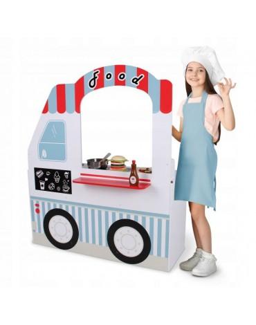 Medinė virtuvėlė ant ratų