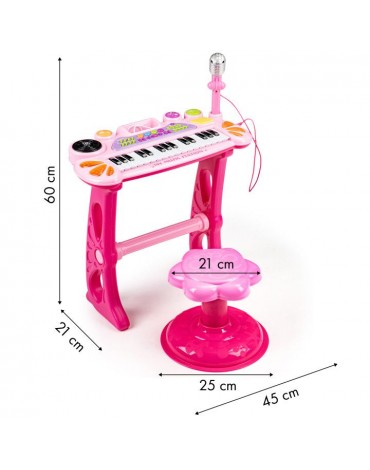Žaislinis fortepijonas Rožė