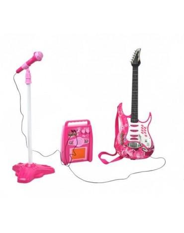 Žaislinis mikrofonas su gitara