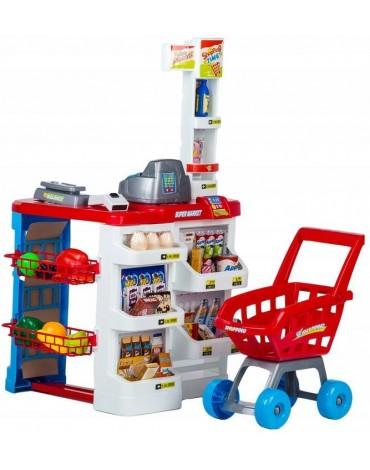 Vaikiška parduotuvė su vežimėliu