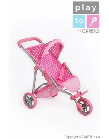 PlayTo triratis lėlių vežimėlis