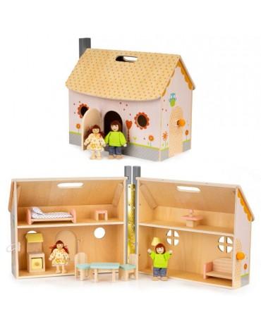 Medinis lėlių namelis -...