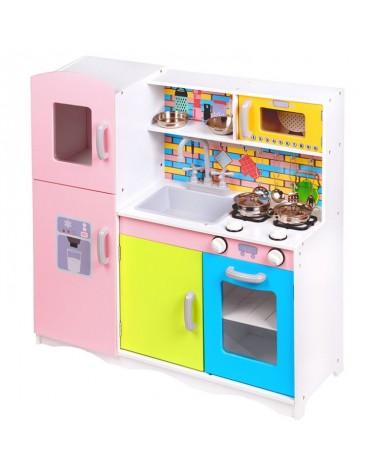 spalvinga medinė virtuvėlė ecotoys TK038
