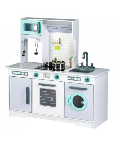 medinė vaikiška virtuvė ecotoys 7258