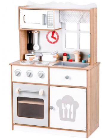 Medinė virtuvėlė su 12...