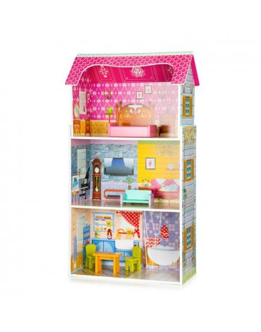 medinis lėlių namelis Ecotoys W08012