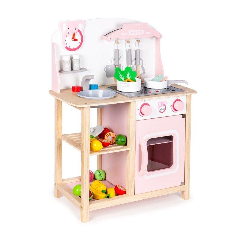 rožinė virtuvėlė ecotoys CA12009