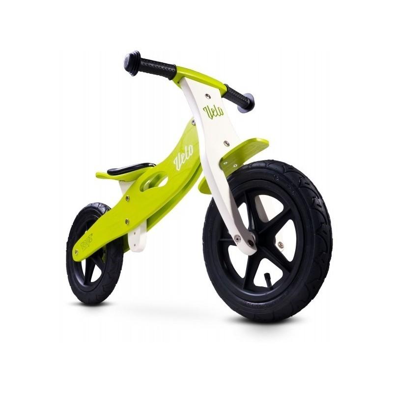 balansinis dviratukas medinis žalios spalvos