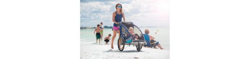 Dviračių priekabos, vienvietė ar dvivietė dviračio priekaba internete